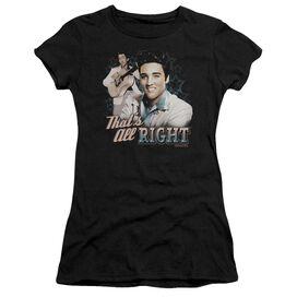 ELVIS PRESLEY THATS ALL RIGHT - S/S JUNIOR SHEER - BLACK T-Shirt