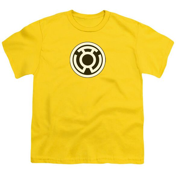 Green Lantern Sinestro Corps Logo Short Sleeve Youth T-Shirt