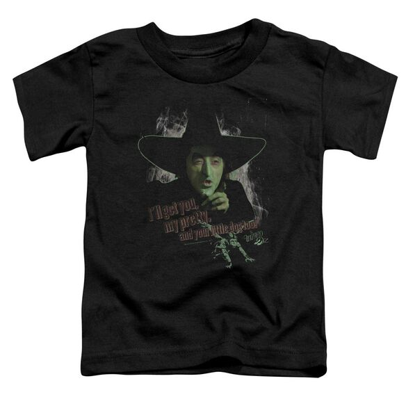 Wizard Of Oz And Your Little Dog Too Short Sleeve Toddler Tee Black T-Shirt