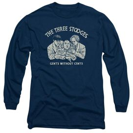 THREE STOOGES WITHOUT CENTS- L/S ADULT T-Shirt
