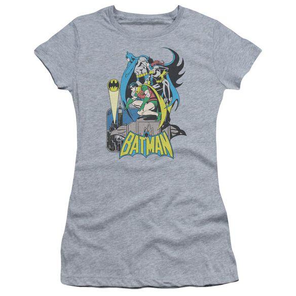 Dc Heroic Trio Short Sleeve Junior Sheer Athletic T-Shirt