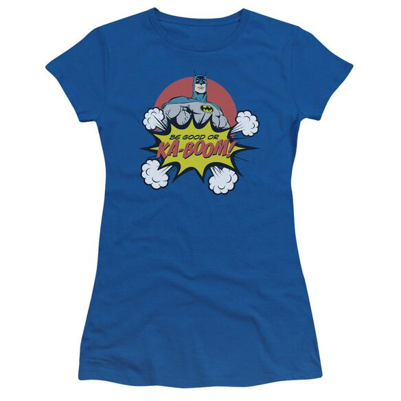 Dc Kaboom Short Sleeve Junior Sheer Royal T-Shirt