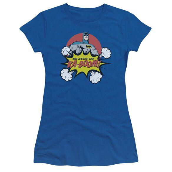 Dc Kaboom Short Sleeve Junior Sheer Royal T-Shirt