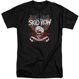 Skid Row Winged Skull Short Sleeve Adult Tall T-Shirt