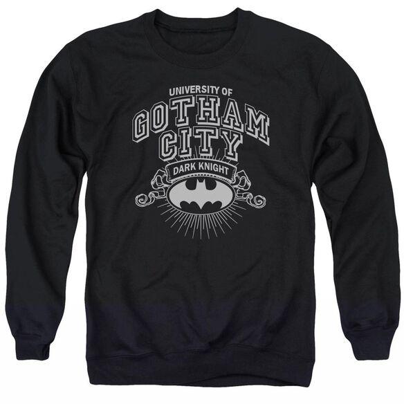 Batman University Of Gotham - Adult Crewneck Sweatshirt - Black