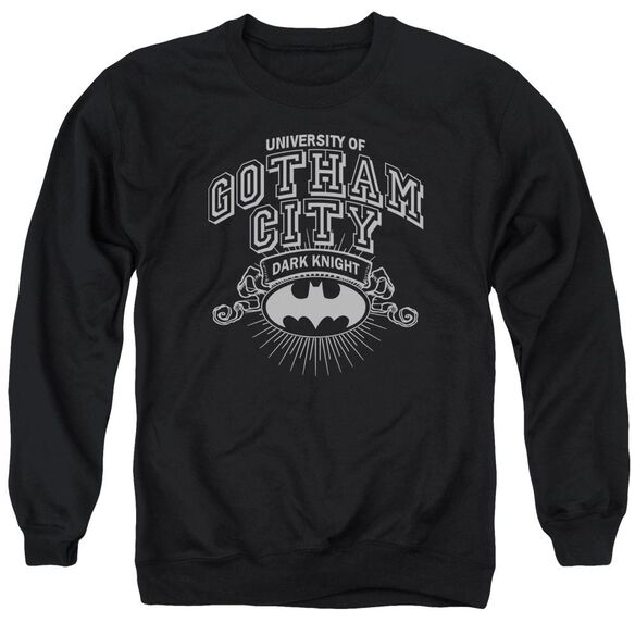 Batman University Of Gotham - Adult Crewneck Sweatshirt - Black