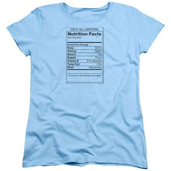 100% All Natural Short Sleeve Womens Tee Light T-Shirt