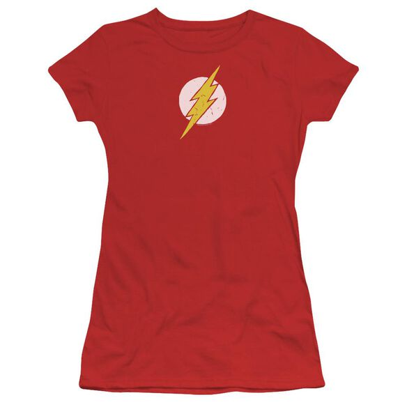 Jla Rough Flash Short Sleeve Junior Sheer T-Shirt