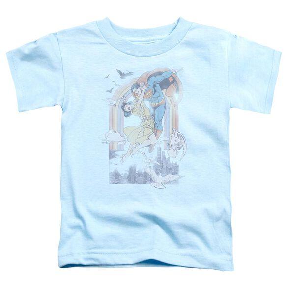 Dc Rainbow Love Short Sleeve Toddler Tee Light Blue T-Shirt