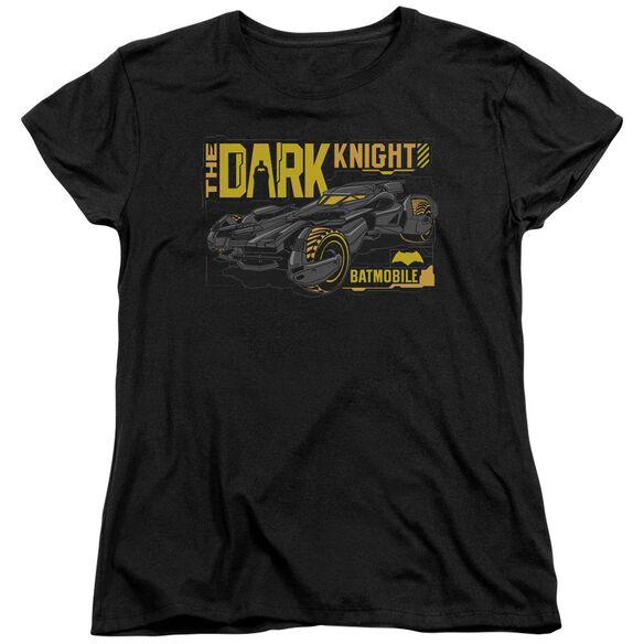 Batman V Superman Mobile Dark Knight Short Sleeve Womens Tee T-Shirt