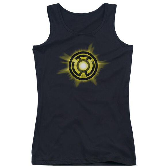 Green Lantern Yellow Glow Juniors Tank Top