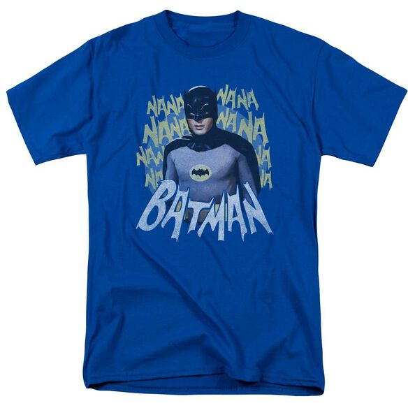 BATMAN CLASSIC TV THEME SONG-S/S ADULT 18/1 - ROYAL BLUE T-Shirt