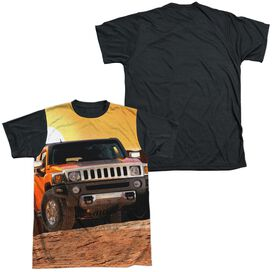 Hummer Sunset Ride Short Sleeve Adult Front Black Back T-Shirt