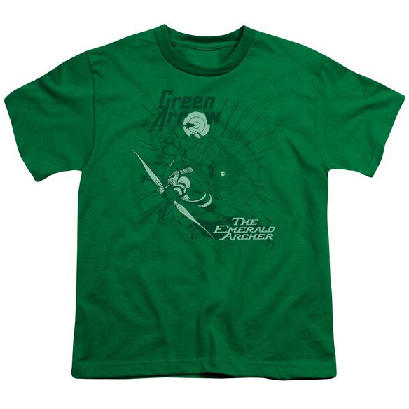 Dc The Emerald Archer Short Sleeve Youth Kelly T-Shirt