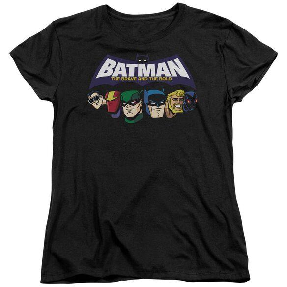Batman Bb Head Lineup Short Sleeve Womens Tee T-Shirt