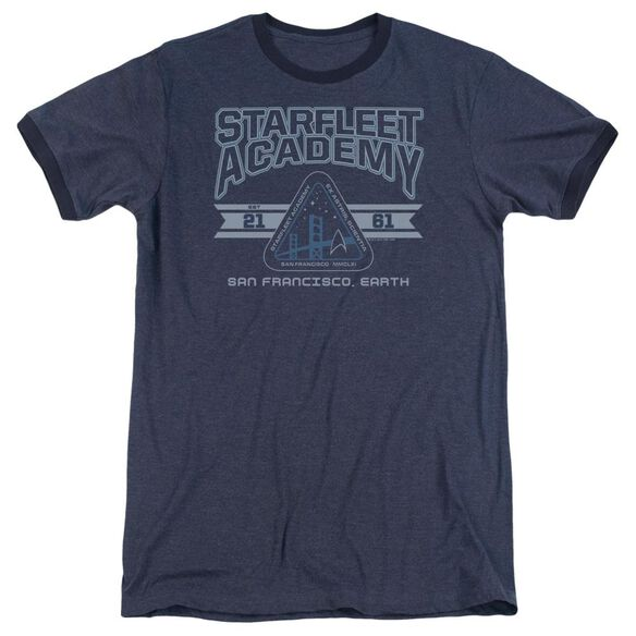 Star Trek Starfleet Academy Earth Adult Heather Ringer Navy