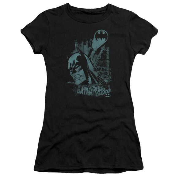BATMAN GRITTED TEETH - S/S JUNIOR SHEER - BLACK T-Shirt