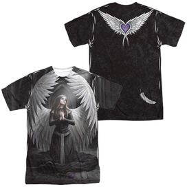 Anne Stokes Prayer For The Fallen (Front Back Print) Short Sleeve Adult Poly Crew T-Shirt