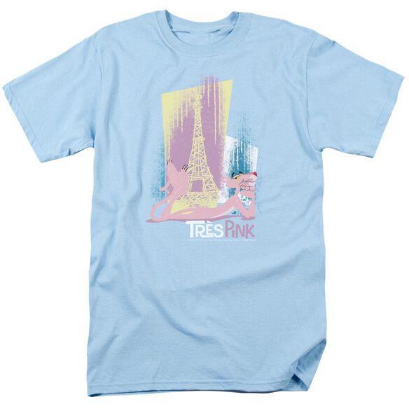 Pink Panther Tres Pink Short Sleeve Adult Light T-Shirt