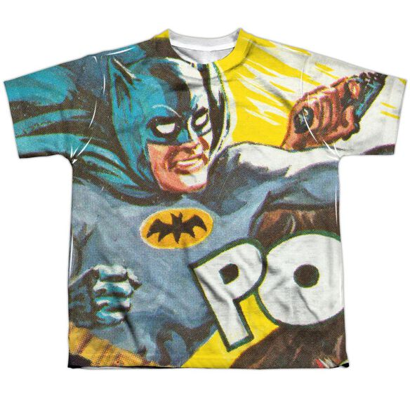 Batman Classic Tv On The Chin Short Sleeve Youth Poly Crew T-Shirt