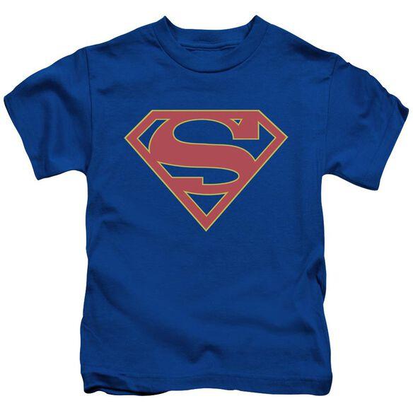Supergirl Logo Short Sleeve Juvenile Royal T-Shirt