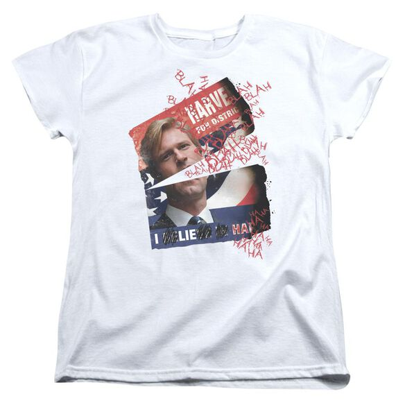 Dark Knight Defiled Campaign Poster Short Sleeve Womens Tee White T-Shirt