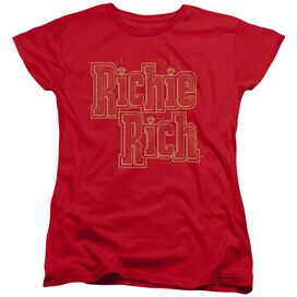 Richie Rich Stacked Short Sleeve Womens Tee T-Shirt