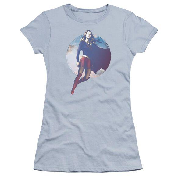 Supergirl Cloudy Circle Premium Bella Junior Sheer Jersey Light