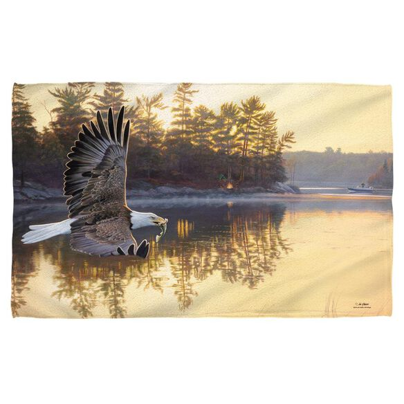 Wild Wings Gone Fishing 2 Beach Towel