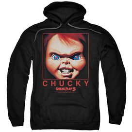Childs Play Chucky Squared Adult Pull Over Hoodie
