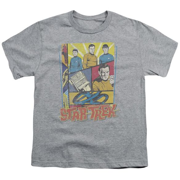Star Trek Vintage Collage Short Sleeve Youth Athletic T-Shirt