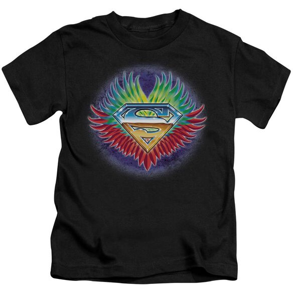 Superman Don't Stop Believing Short Sleeve Juvenile Black Md T-Shirt