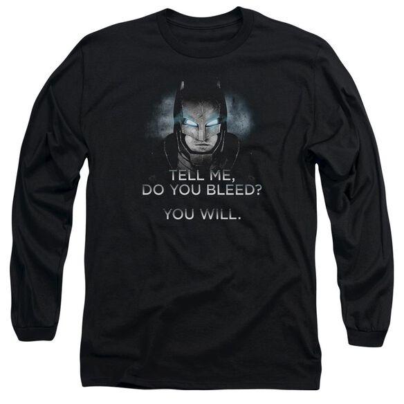 Batman V Superman Do You Bleed Long Sleeve Adult T-Shirt