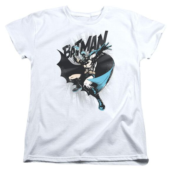 Batman Batarang Throw Short Sleeve Womens Tee T-Shirt
