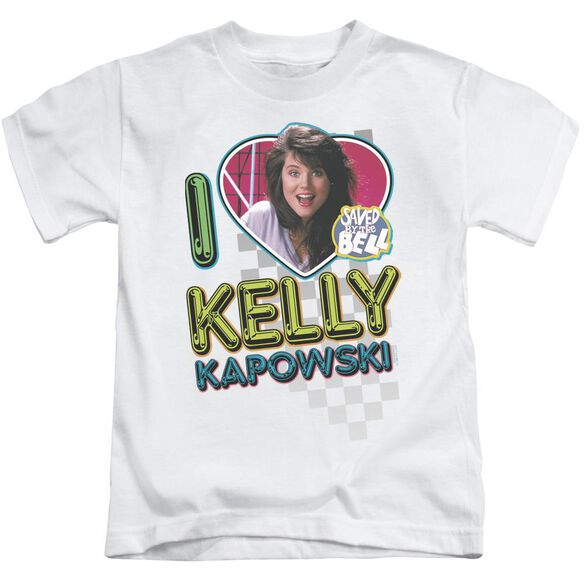 Saved By The Bell I Love Kelly Short Sleeve Juvenile White T-Shirt