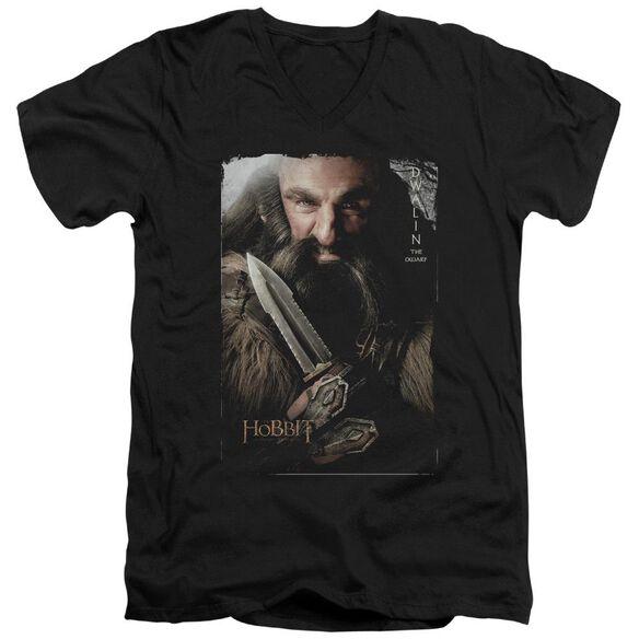 The Hobbit Dwalin Short Sleeve Adult V Neck T-Shirt