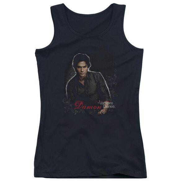 Vampire Diaries Damon Juniors Tank Top