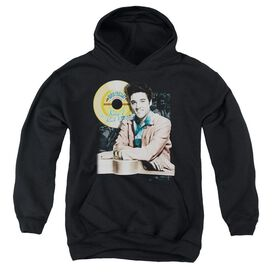Elvis Presley Gold Record-youth Pull-over Hoodie - Black