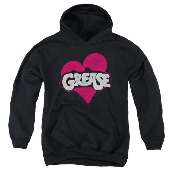 Grease Heart Youth Pull Over Hoodie