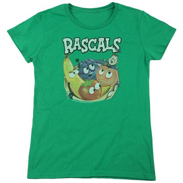Dubble Bubble Rascals Short Sleeve Womens Tee Kelly T-Shirt