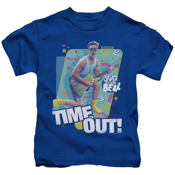 Saved By The Bell Time Out Short Sleeve Juvenile Royal T-Shirt