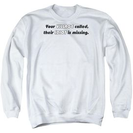 Your Village Called - Adult Crewneck Sweatshirt - White