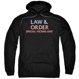 Law And Order Svu Logo Adult Pull Over Hoodie
