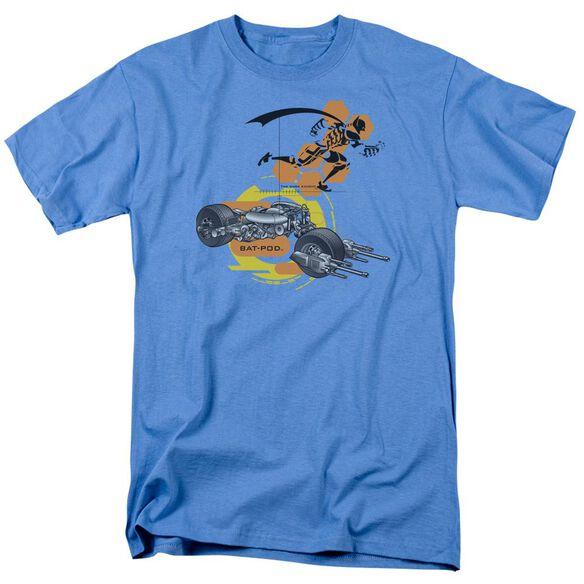 Dark Knight Bat Pod Schematic Short Sleeve Adult Carolina T-Shirt
