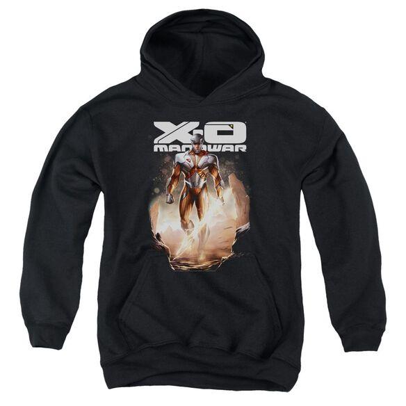 Xo Manowar Lightning Sword Youth Pull Over Hoodie