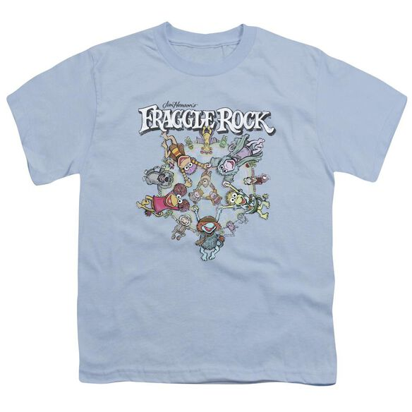 Fraggle Rock Spinning Gang Short Sleeve Youth Light T-Shirt
