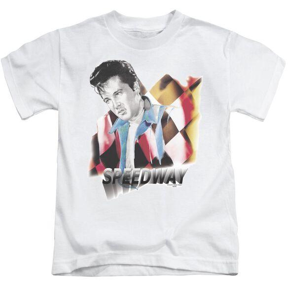Elvis Speedway Short Sleeve Juvenile White T-Shirt