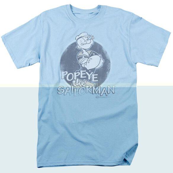 Popeye Original Sailorman Short Sleeve Adult Light Blue T-Shirt