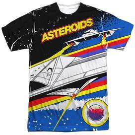 Atari Asteroids Arcade Short Sleeve Adult Poly Crew T-Shirt