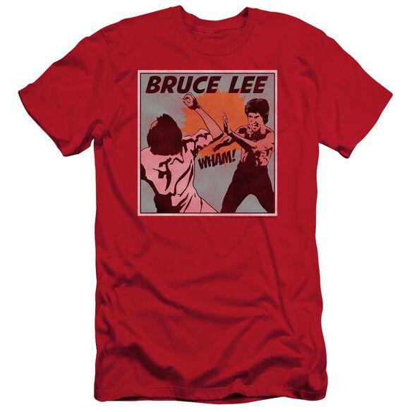 Bruce Lee Comic Panel Short Sleeve Adult T-Shirt